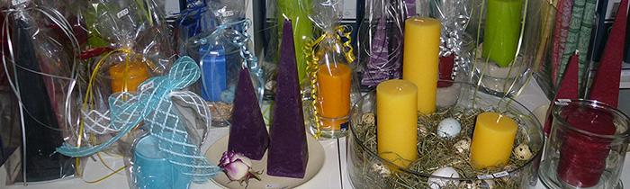 Geschenkideen mit Kerzen in allen Formen und Farben